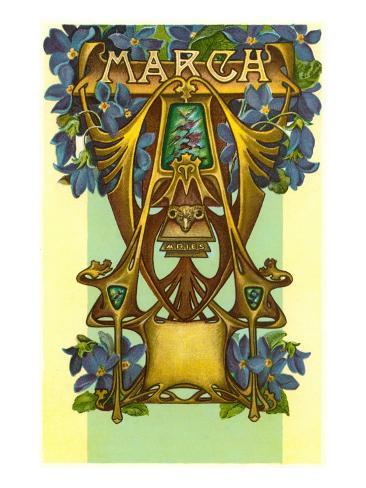 Art Nouveau March, Aries Art Print