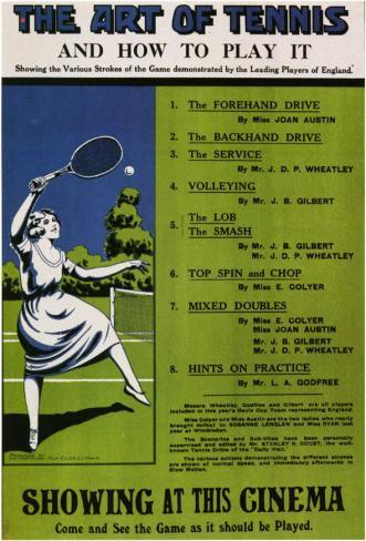 Art of Tennis and How to Play It Masterprint