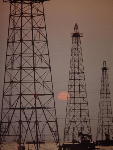 Venezuela Oil Rigs Photographic Print