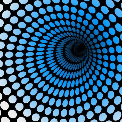 Hi Tech Blue Tunnel, Digital Dynamic Wallpaper, Technology, Science Background. See Others in My Po Art Print