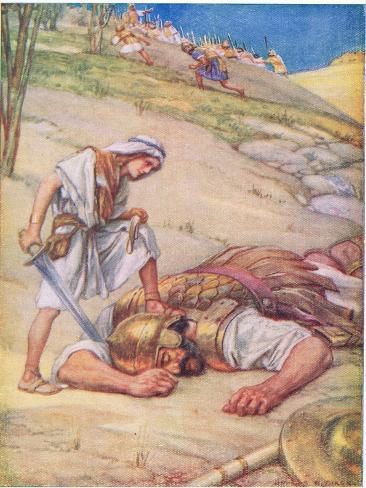 David and Goliath Giclee Print