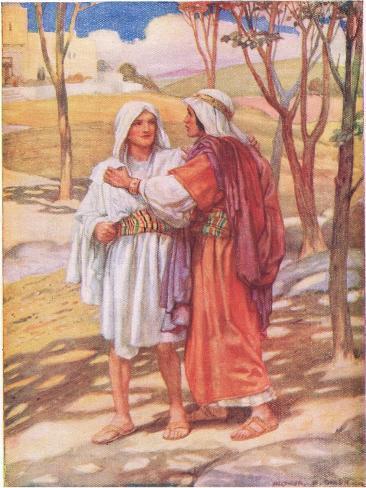 David and Jonathan Giclee Print