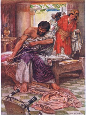 Samson Broke the Ropes That Bound Him Stampa giclée