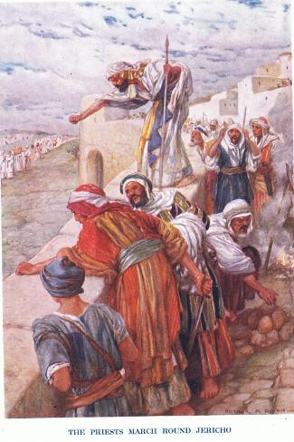 The Priests March around Jericho Stampa giclée
