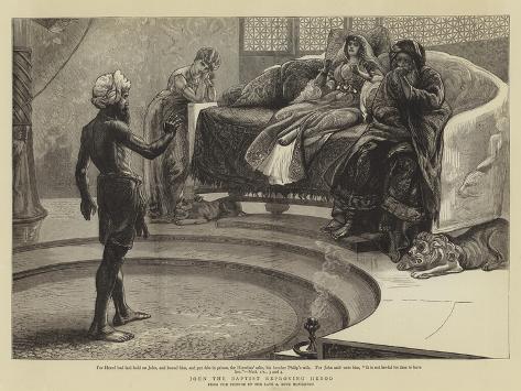 John the Baptist Reproving Herod Lámina giclée