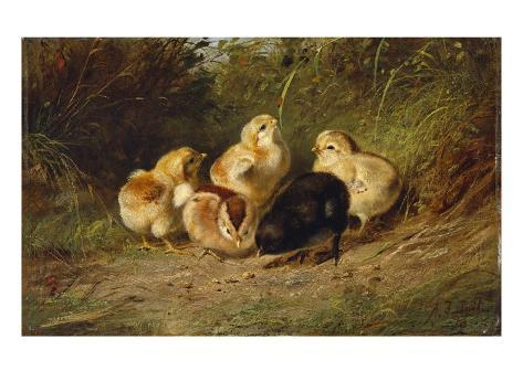 Chickens, 1878 Giclee Print