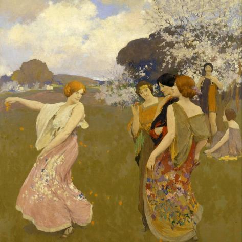 Spring Dance, C. 1917 Gicléedruk