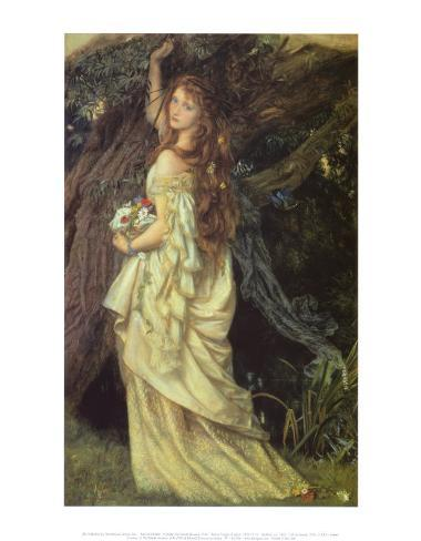 Ophelia and He Will Not Come Again, 1863-64 Art Print