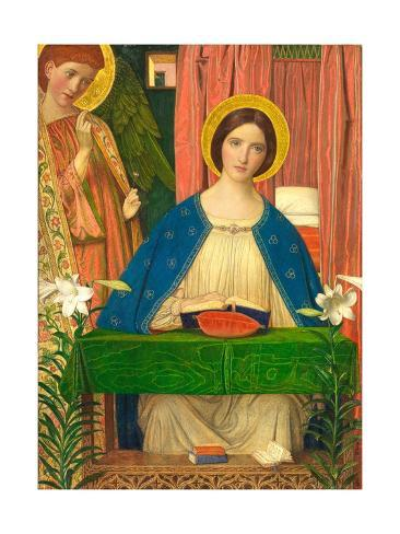 The Annunciation (panel) Lámina giclée