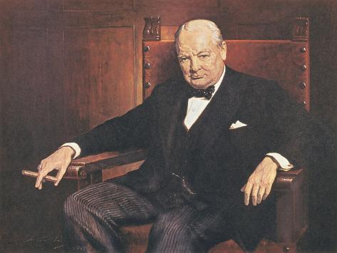 Sir Winston Churchill Premium Giclee Print