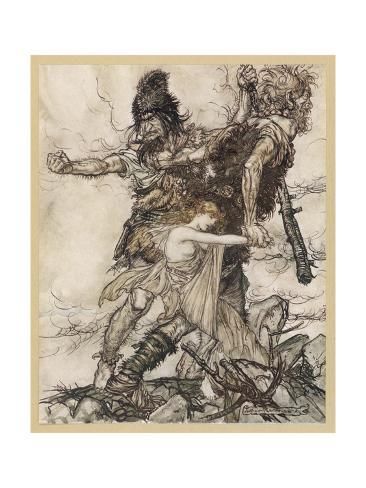 Freia Abducted by Giants Stampa giclée