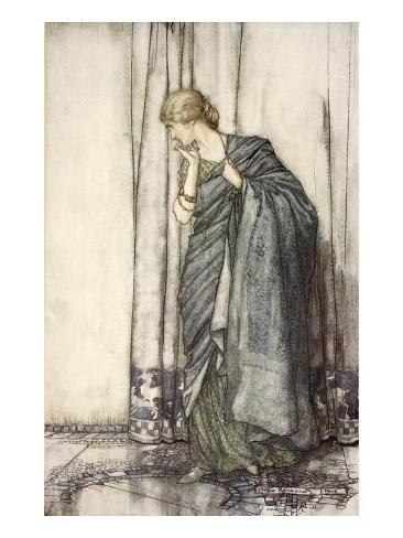 Helena, Illustration from 'Midsummer Nights Dream' by William Shakespeare, 1908 (Colour Litho) Impressão giclée