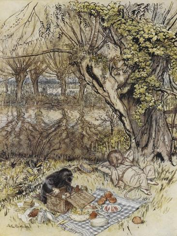 The Wind in the Willows Giclée-vedos