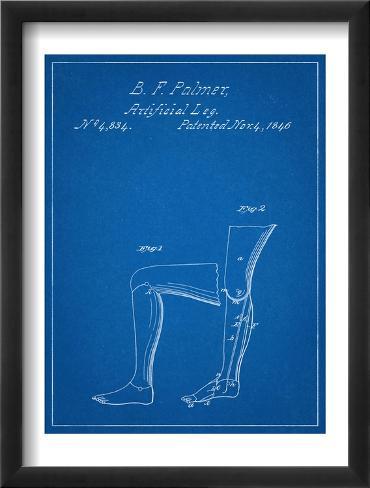 Artificail Leg Patent 1846 Framed Art Print