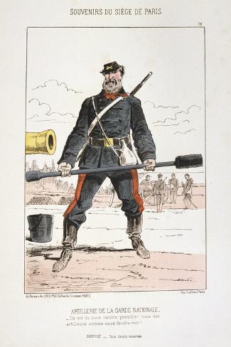 Artillerie De La Garde Nationale, Siege of Paris, 1870-1871 Giclee Print