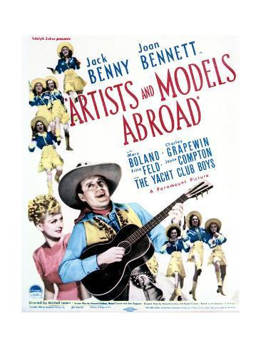 Artists and Models Abroad - Movie Poster Reproduction Art Print