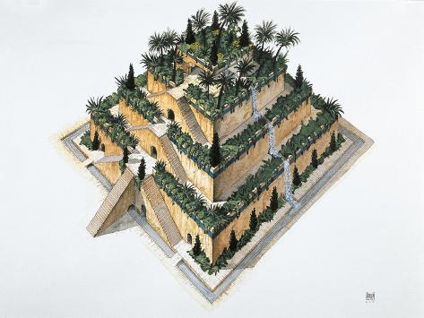 Artists Impression of 'The Hanging Gardens of Babylon' Stampa giclée