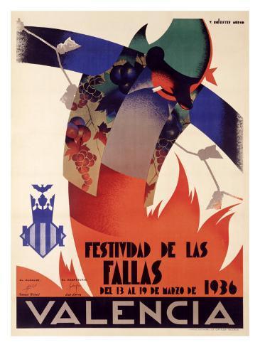 Festividad de Fallas Valencia Giclee Print