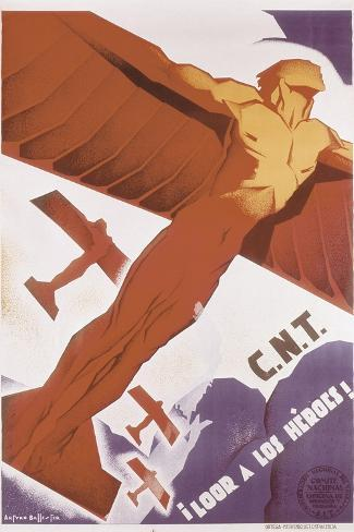 Loor for Heroes, Republican Spanish Civil War Poster Art Print