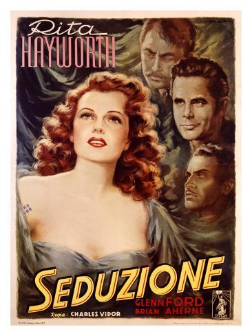 Rita Hayworth in Seduction Giclee Print