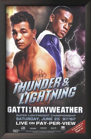 Arturo Gatti vs. Floyd Mayweather Framed Art Print