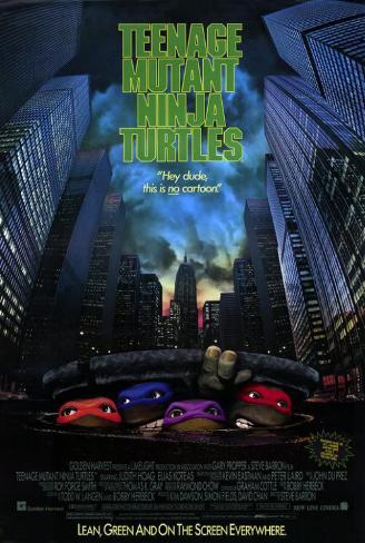 As Tartarugas Ninjas: O Filme, em inglês Impressão original