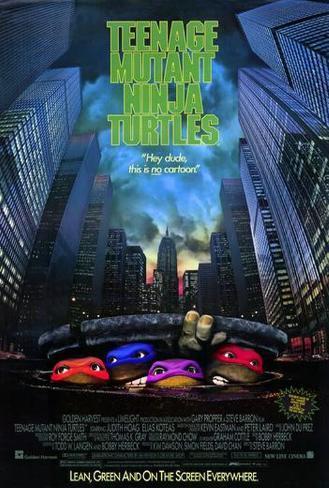 As Tartarugas Ninjas: O Filme, em inglês Pôster