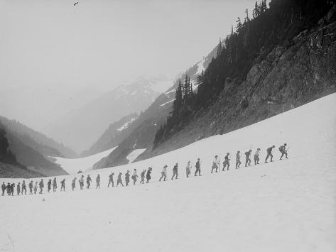 Mountaineers in the North Cascades, ca. 1909 Giclee Print