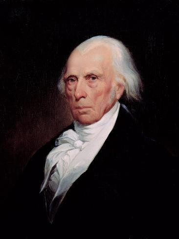 Portrait of James Madison, 1833 Giclee Print