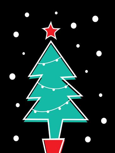 Christmas Tree Print Art Print