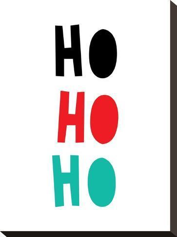 Ho Ho Ho Christmas Print Stretched Canvas Print