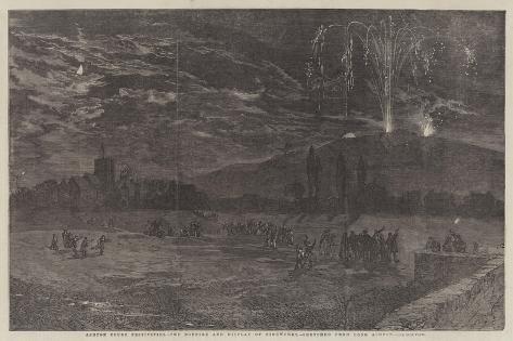 Ashton Court Festivities, the Bonfire and Display of Fireworks Giclee Print