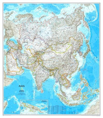 Asia Political Map Posters - at AllPosters.com.au