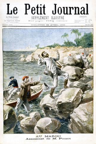 Assassination of M.Pouzet, 1901 Stampa giclée