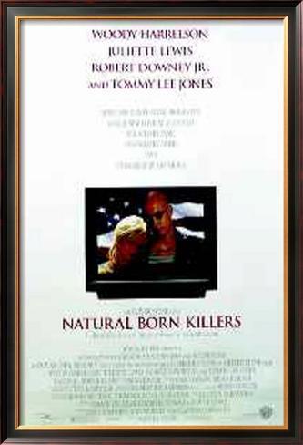 Assassinos por Natureza Pôster emoldurado