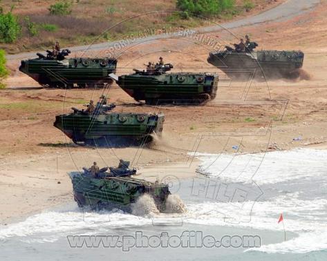 Assault Amphibious Vehicles (AAV) United States Marine Corps Photo