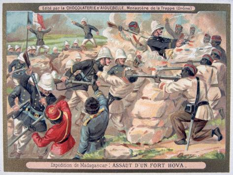 Assault on a Hova Fort, Madagascar, 1883-1896 Giclee Print