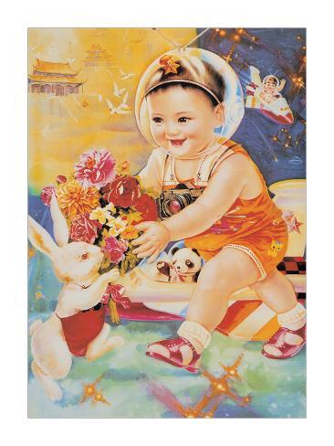 Astronaut Baby Giclee Print