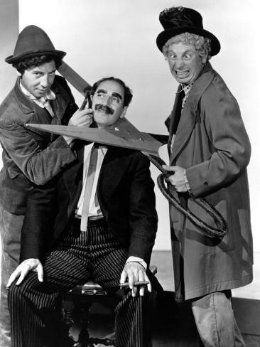 At the Circus, Chico Marx, Groucho Marx, Harpo Marx, 1939 Photo