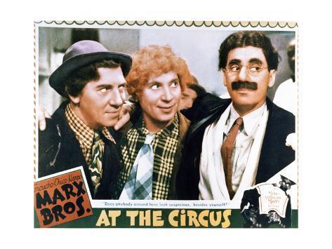 At the Circus - Lobby Card Reproduction Art Print