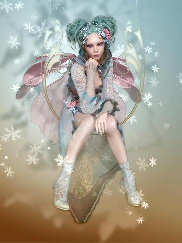 Winter Pixie Stampa artistica
