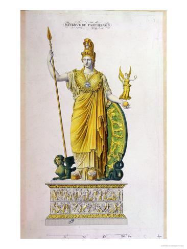 Don Wood Athens >> Athena Parthenos, Statue from the Parthenon, Athens Giclee ...