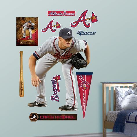 Atlanta Braves Craig Kimbrel - Crouch Wall Decal Sticker Wall Decal