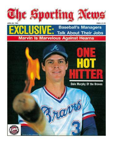 Atlanta Braves OF Dale Murphy - April 29, 1985 Photo