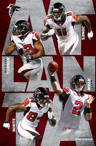 Atlanta Falcons 2012-13 Team Poster