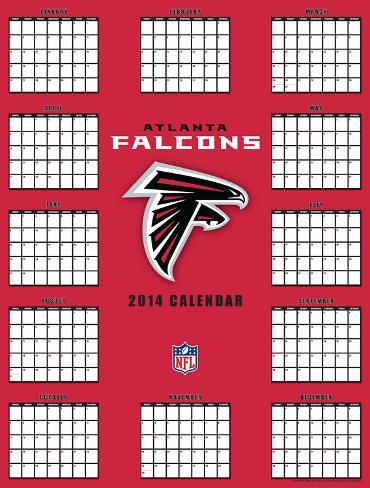 Atlanta Falcons - 2014 Giant Poster Calendar Calendars