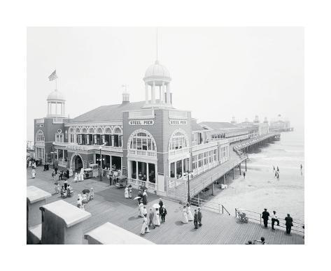 Atlantic City Steel Pier, 1910s Giclee Print