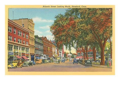 Atlantic Street, Stamford, Connecticut Art Print