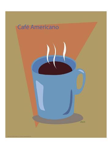 Cafe Americano Framed Giclee Print