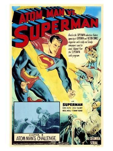 Atom Man Vs. Superman, 1948 Art Print